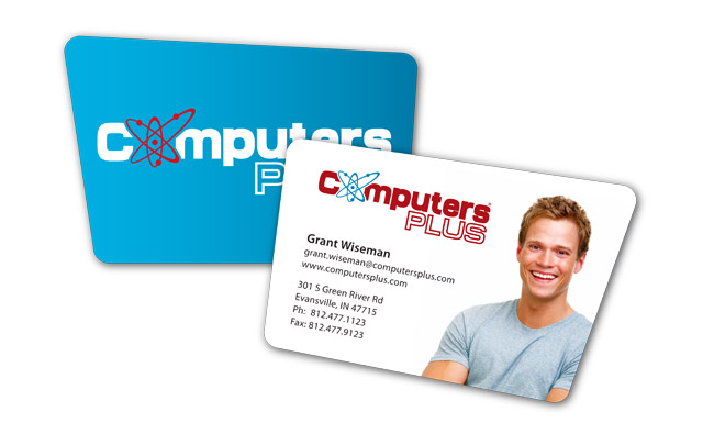 Computers Plus - business card concept