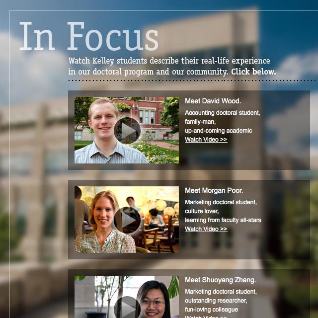 IU Kelley School of Business Doctoral Website