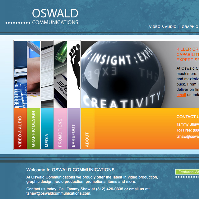 Oswald Communications Website