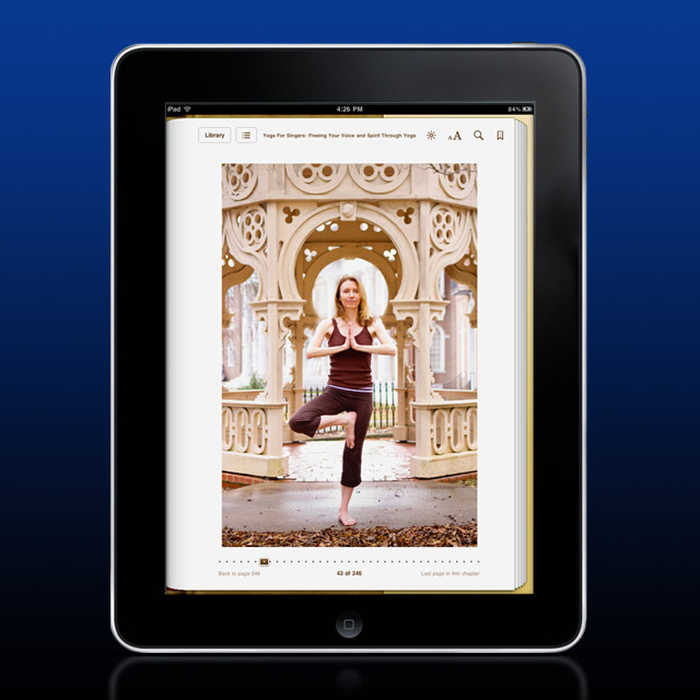 Yoga For Singers - ePub design
